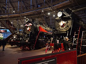 Russian Railway Museum - Ov6640, L2298 and LV18-002 at the Russian Railway Museum