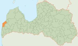 Pāvilosta Municipality - Image: Pāvilostas novada karte