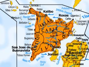 Karte der Insel Panay