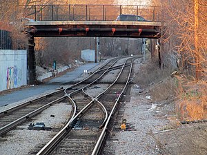 Fairmount Line - PARK interlocking, just north of Talbot Ave station, was added in 2007-2008