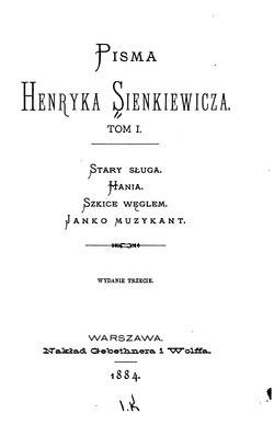 Pisma Henryka Sienkiewicza Tom Icałość Wikiźródła Wolna