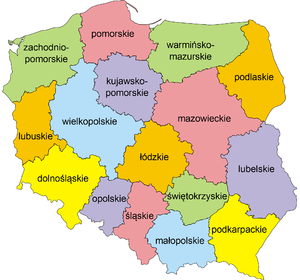 NUTS statistical regions of Poland - NUTS 2 divisions in Poland