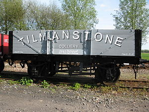 Kent Coalfield - An open wagon in the livery of Tilmanstone Colliery