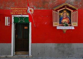 Communist Refoundation Party - PRC headquarters in Castello, Venice