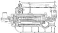 PSM V56 D0713 Longitudinal diagram of parsons steam turbine.png