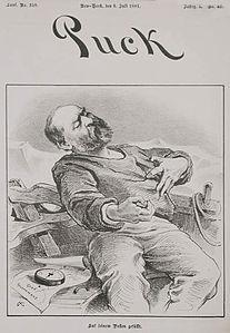 PUCK1881-Joseph Keppler-President Garfield