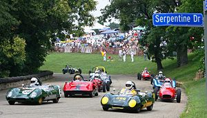 PVGP racers enter the serpentine