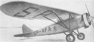 Townend ring - Polish sports plane PZL Ł.2 with a Townend ring