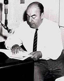 Pablo Neruda, fotografato nella sede della Biblioteca del Congresso, Washington DC, 1966