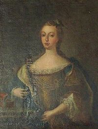 Painting of Mariana Victoria of Spain while Princess of Brazil by Francisco Pavona.jpg