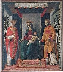 Neitsyt Maria, Jeesus-lapsi, Pyhä Faustinus ja Pyhä Jovita