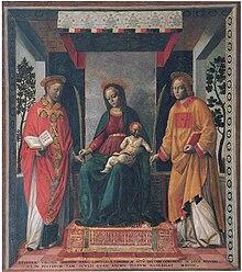 Vincenzo Foppa, Pala della Mercanzia, inizio XVI secolo
