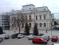 The Vaslui County court building from the interwar period, later functioned as Vaslui city hall.