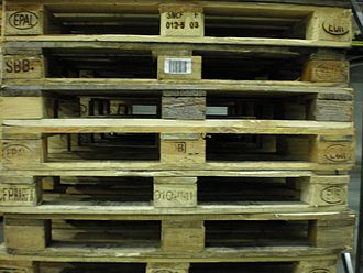 EUR-pallet - A stack of counterfeit EUR-pallets