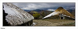 Galicia (Spain) - Palloza houses in eastern Galicia, an evolved form of the Iron Age local roundhouses
