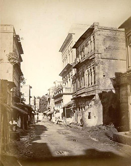 Panam Road, Narayanganj during British rule in 1875 Panam road, Sonargaon, near Dacca.jpg