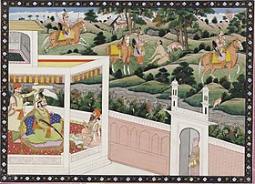 Pandu shoots Kindama, who is disguised as a deer