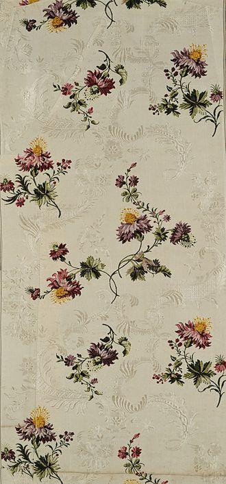 Anna Maria Garthwaite - Meandering floral vines design attributed to Garthwaite, ca 1740.