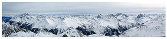 St Anton am Arlberg - Image: Panorama Arlberg