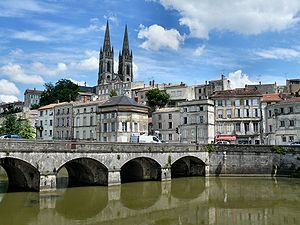 A view of Niort from the Sevre Niortaise river...