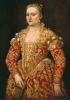 Paolo Veronese - Portrait of a Woman Holding Gloves - National Gallery of Ireland, Dublino.jpg