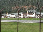 Paro Airport from outside the fence, July 2016 03.jpg