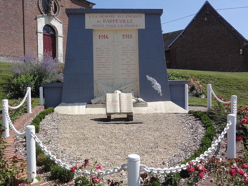 Parpeville (Aisne) monument aux morts