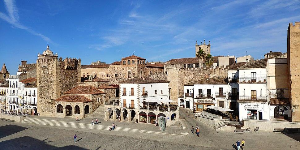 Parte antigua de Cáceres, Extremadura, España