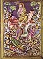 Particolare di una scena 2 in smalto translucido del reliquiario del coprorale di bolsena, duomo di orvieto, fatto da ugolino di Vieri, senese, tra il 1337 e il 1338.jpg