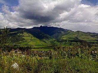 Pasochoa - Pasochoa as seen from Machachi