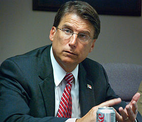 North Carolina governor Pat McCrory. Photo by Hal Goodtree.