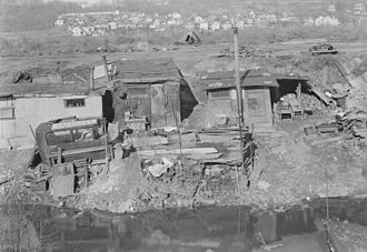 Paterson, New Jersey - A Hooverville for unemployed on the outskirts of Paterson, 1937.