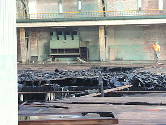 Paterson Armory - Fire burned through drill floor