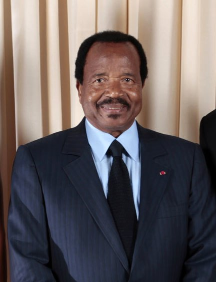 Paul Biya with Obamas cropped