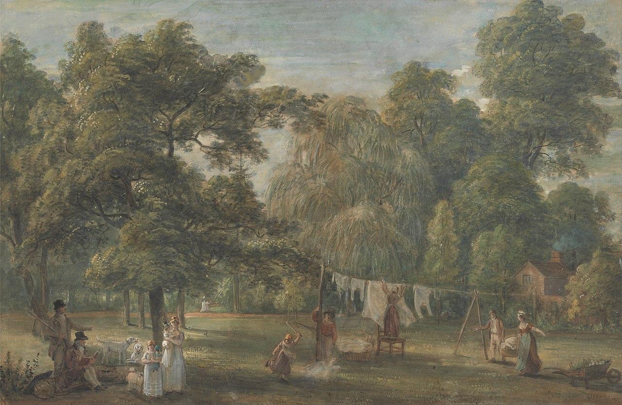 Paul Sandby - The Garden of Thomas Sandby's House at Englefield Green near Windsor - Google Art Project.jpg