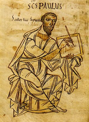 A much rarer author portrait of St Paul C9th, ...