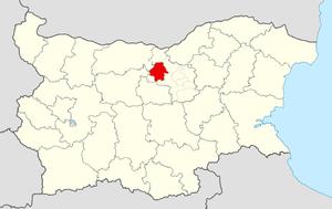 Pavlikeni Municipality - Image: Pavlikeni Municipality Within Bulgaria