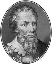 ブラジルの「発見者」 ペドロ・アルヴァレス・カブラル。