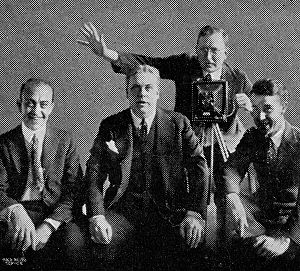 Henry Burr - Henry Burr and the Peerless Quartet, about 1923. From left to right: John H. Meyer, Burr, Frank Croxton, Albert Campbell.