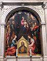 Perin del vaga e giovanni antonio sogliani, madonna in trono e santi, 01.JPG
