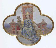 Rappresentazione allegorica della provincia Umbria di Annibale Brugnoli.