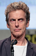 Photo of Peter Capaldi at the San Diego Comic Con International in 2015.