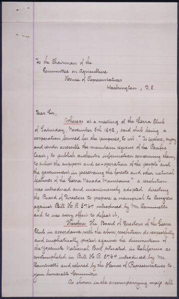 File:Petition and map from John Muir and other founders of Sierra Club.djvu