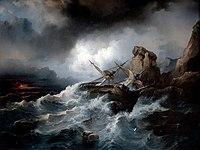 Philippe Tanneur 1850 Scène de naufrage.jpg