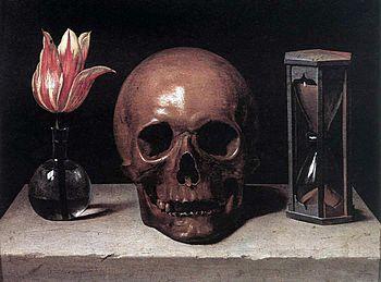 Ф. де Шампань. Натюрморт с черепом. (Vanitas)