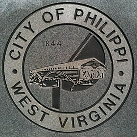 خط الأفق لـ Philippi, West Virginia