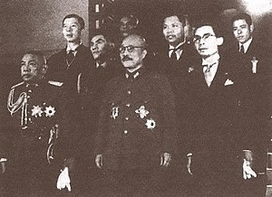 Phraya Phahonphonphayuhasena - Photograph of Phraya Phahon with Hideki Tōjō in Tokyo in 1942, as Phibun's envoy.