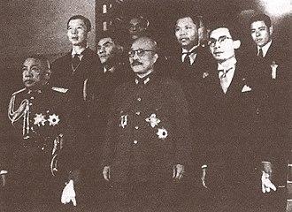 Phraya Phahonphonphayuhasena - Phraya Phahon with old friend Hideki Tōjō in Tokyo in 1942, as Phibun's envoy.
