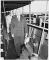 Photograph of President Truman walking aft on his yacht, the U.S.S. WILLIAMSBURG - NARA - 198610.tif