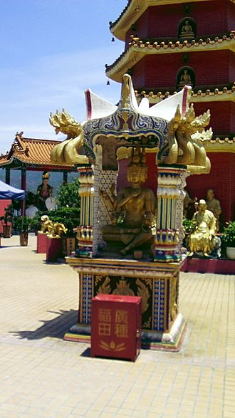 Brahma - Phra Phrom at Ten Thousand Buddhas Monastery, Sha Tin, Hong Kong.